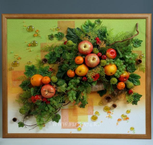 Картины своими руками из искусственных фруктов