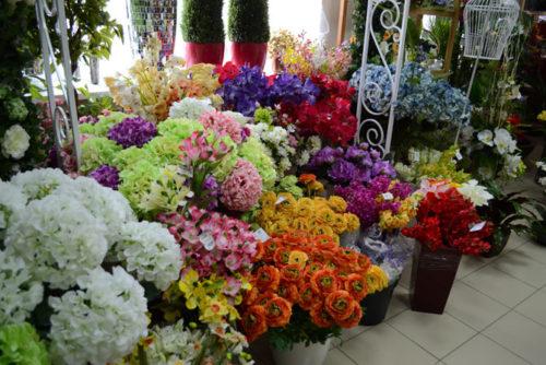 где покупать искусственные цветы Новая