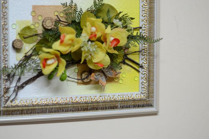 Настенная флористическая композиция из искусственных цветов: http://flora74.ru/shop/2430-sm/kompoziciya-nastennaya-2430-sm/