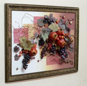 """Настенная фруктовая композиция 60*80 см от компании """"Флора-дизайн"""""""