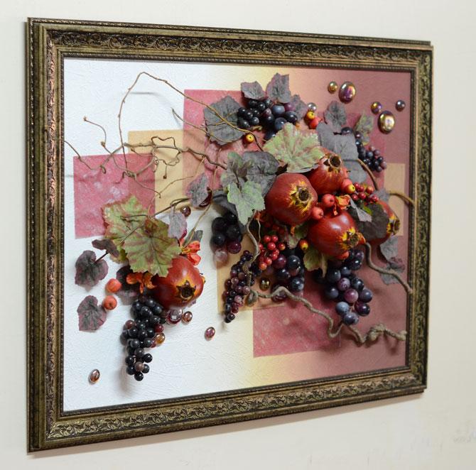 """Настенная фруктовая композиция 60*80 см от компании """"Флора ...: http://flora74.ru/shop/6080-sm/nastennaya-fruktovaya-kompoziciya-6080-sm"""