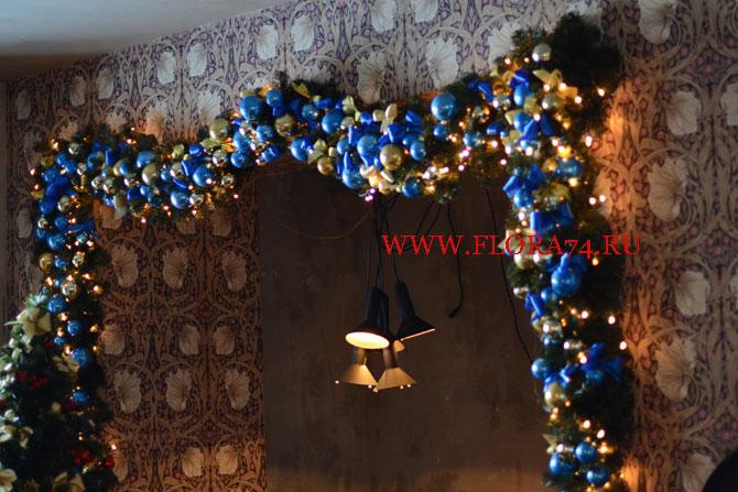 Вариант новогоднего оформления ресторана (фото)
