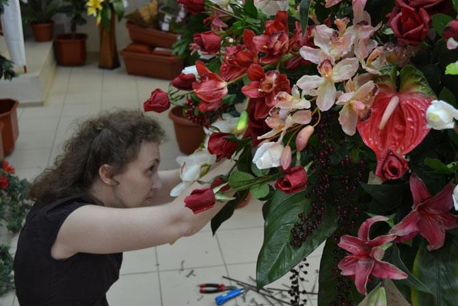 Работа флориста