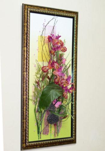 Настенная флористическая композиция из искусственных цветов: http://flora74.ru/shop/nastennye-kompozicii/4080-sm/nastennaya-floristicheskaya-kompoziciya-4080-sm-4/