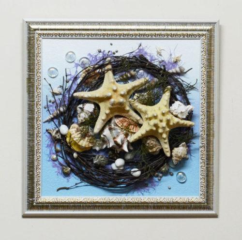 Картина из морских ракушек