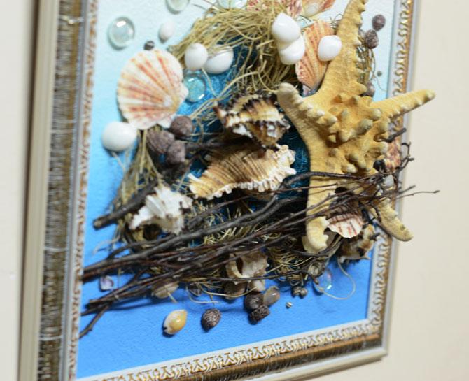 Как своими руками сделать картину из морских ракушек 27