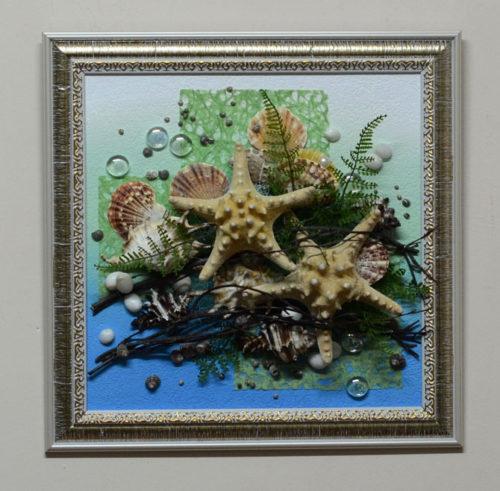 морская композиция 40*40 см