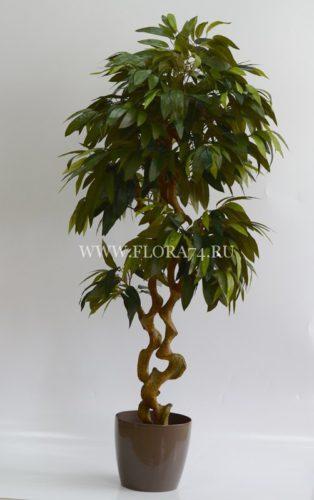 оформление интерьера, искусственное дерево