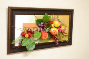 картина из фруктов, подарок,
