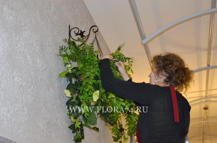 Работа флориста на объекте