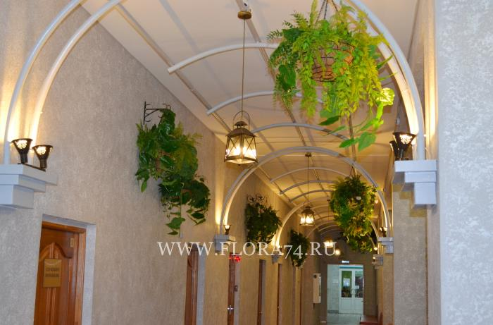 Оформление коридора санатория