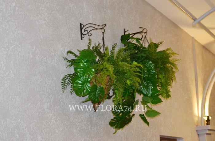 Клумбы из искусственных растений