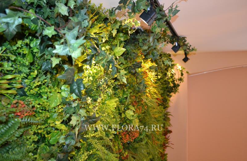 Искусственные растения в интерьере.