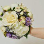 БУКЕТ ДУБЛЁР для свадебы бело-сиреневый.