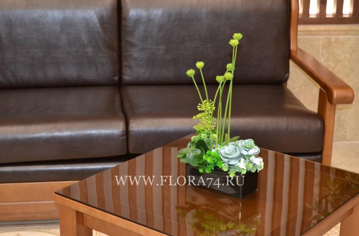 Латексные цветы и растения.
