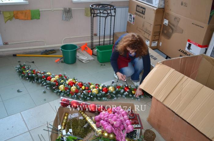 Изготовление новогодних декораций.