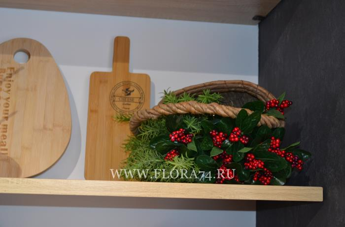 Флористический декор для магазина и кафе.