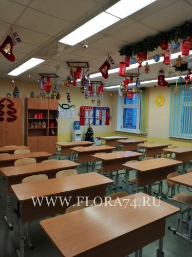 Школьный кабинет.
