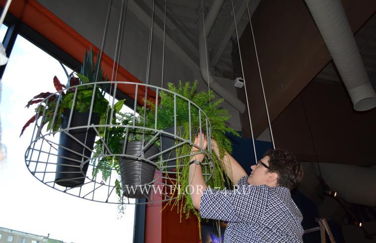 Искусственные растения для оформления помещений.