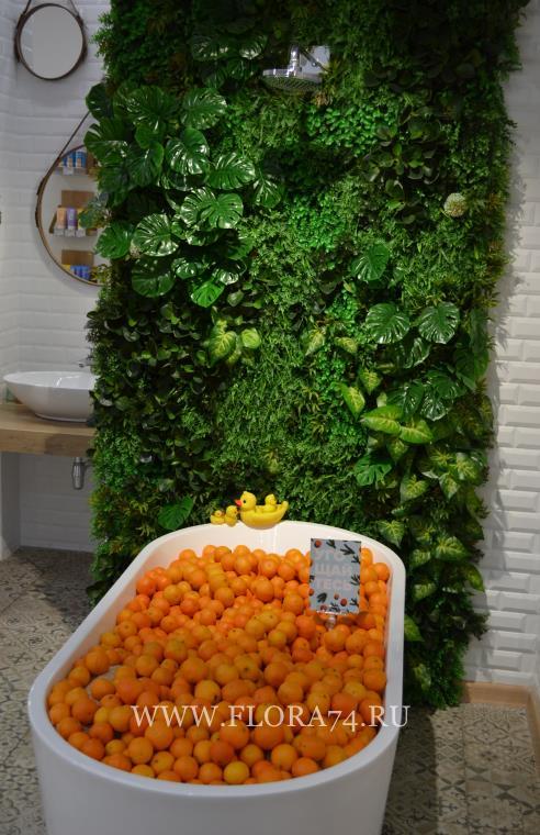 Искусственные зелёные растения.
