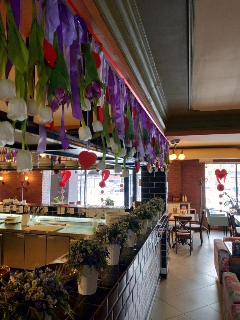 Оформление интерьера ресторана